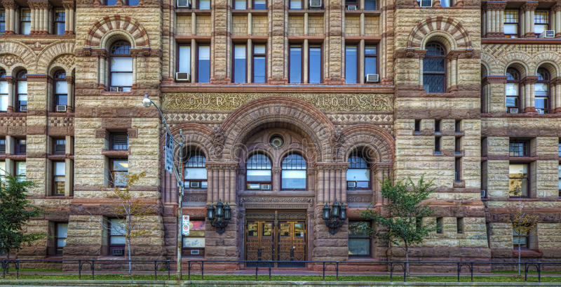 Detalles del Palacio de Justicia, Toronto, ayuntamiento viejo fotos de archivo libres de regalías