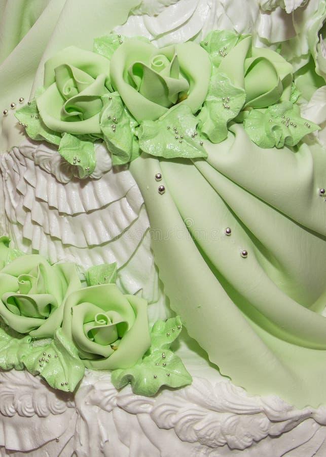 Detalles del pastel de bodas foto de archivo