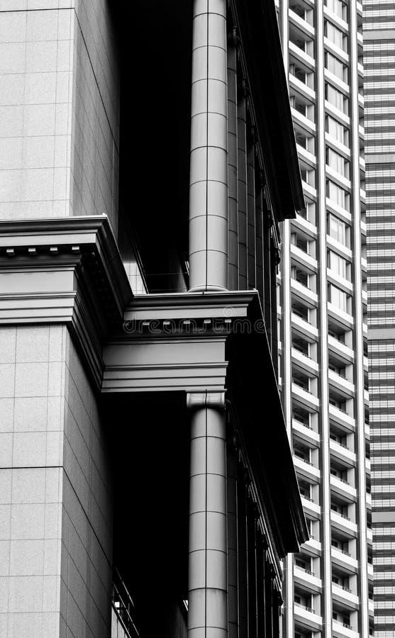 Detalles del pilar de la ciudad de Tokio imagen de archivo libre de regalías