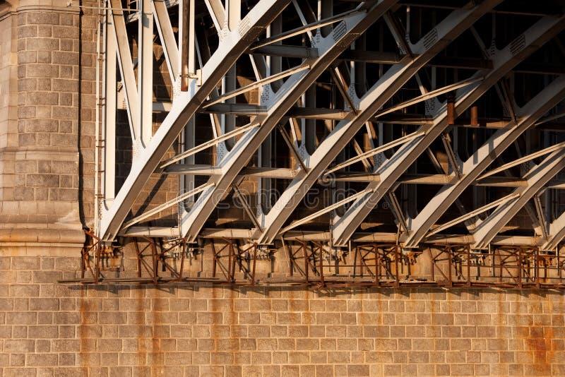 Detalles del primer del puente imagen de archivo libre de regalías