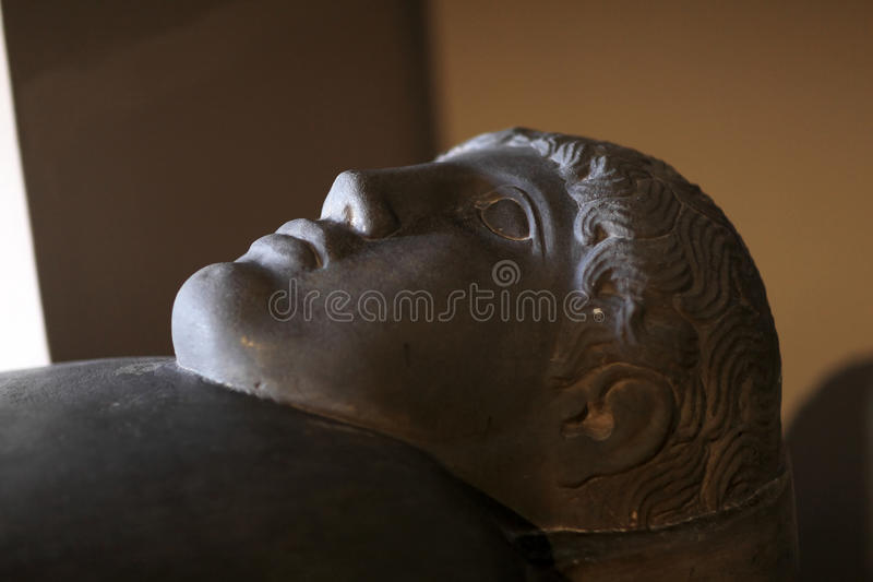 Detalles del sarcófago imagen de archivo