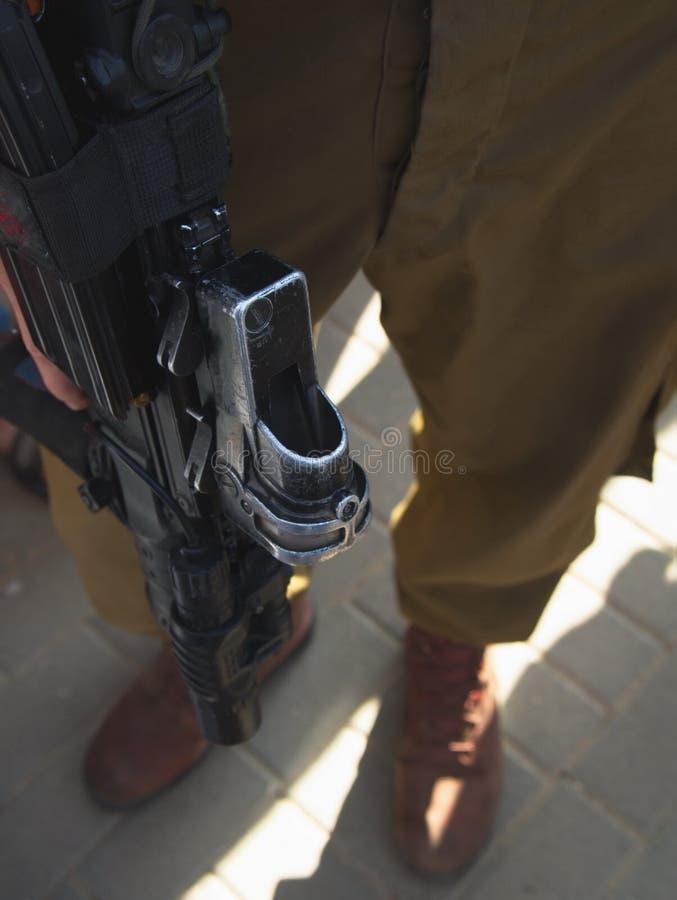 Detalles del soldado israelí imagen de archivo