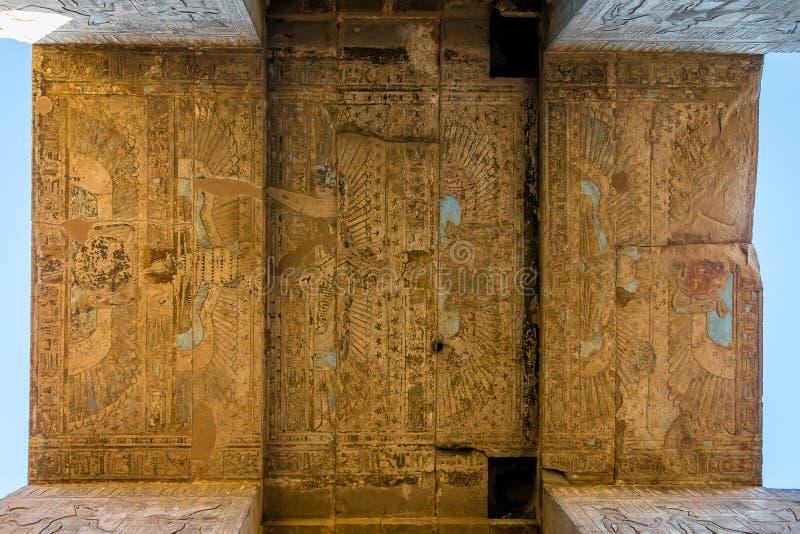 Detalles del templo de Edfu Egipto imágenes de archivo libres de regalías