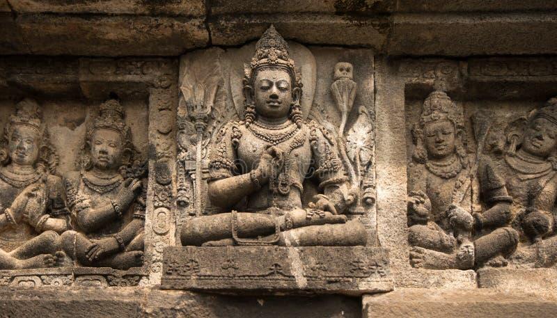 Detalles del templo de Prambanan imagen de archivo libre de regalías