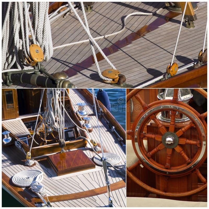 Detalles del velero imagenes de archivo