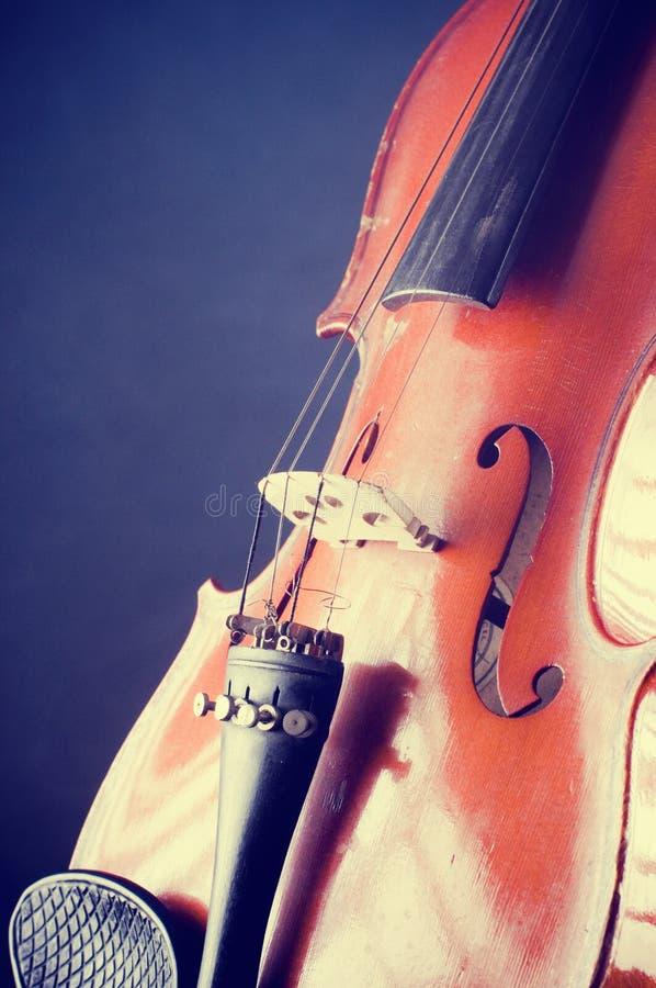Detalles del violín imagenes de archivo