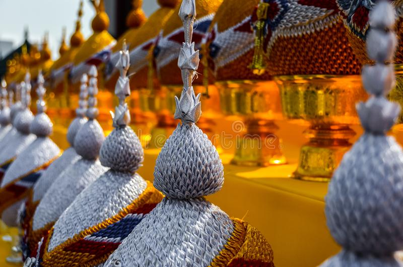 Detalles en templo en Bangkok/Tailandia imagenes de archivo