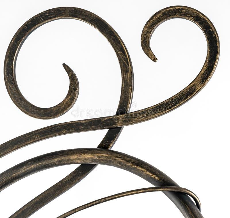 Detalles, estructura y ornamentos curvados del ir labrado imagen de archivo libre de regalías