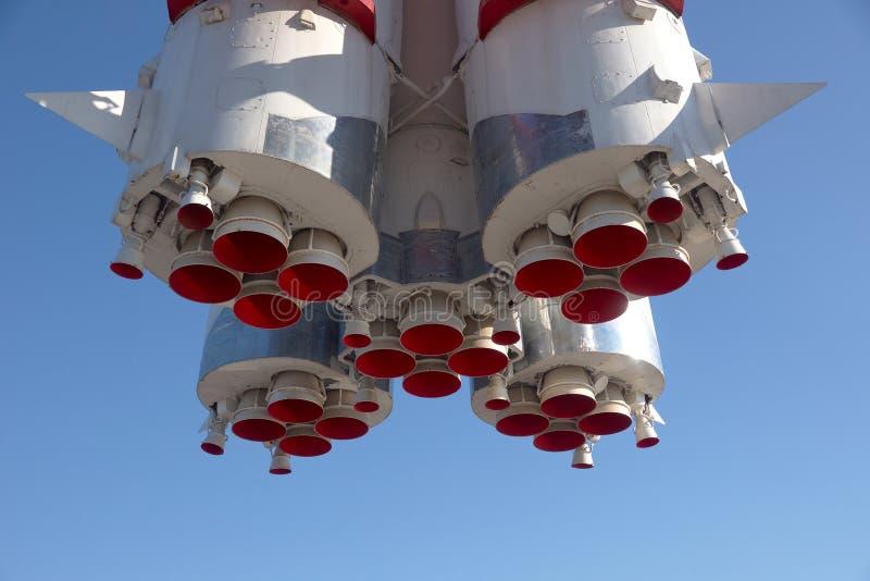 Detalles inferiores del motor espacial de espacio fotos de archivo libres de regalías