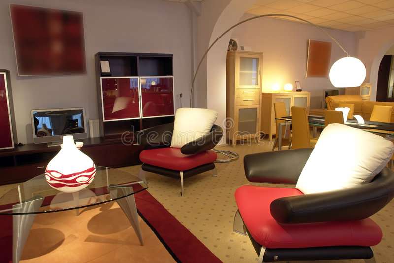 Detalles lujosos de la sala de estar fotografía de archivo