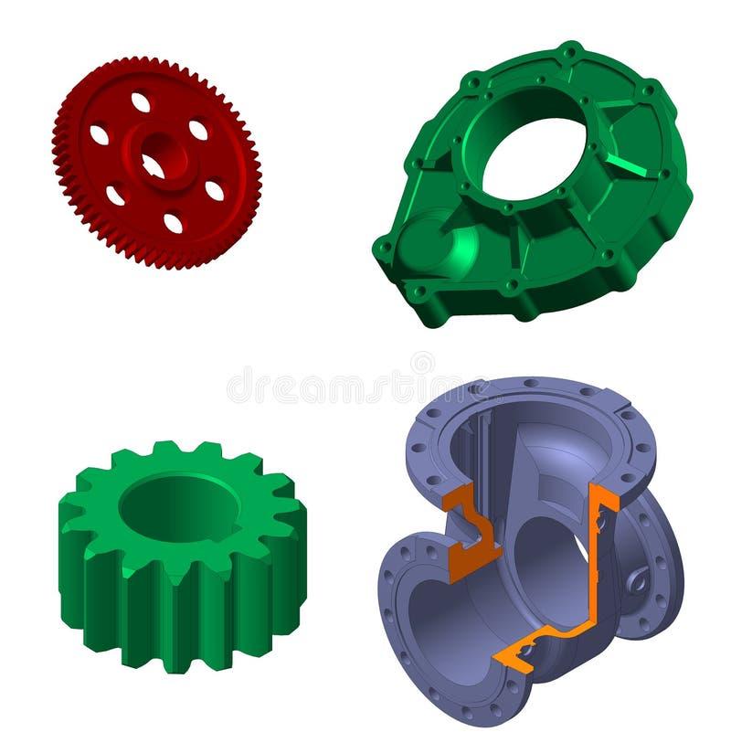 Detalles mecánicos stock de ilustración