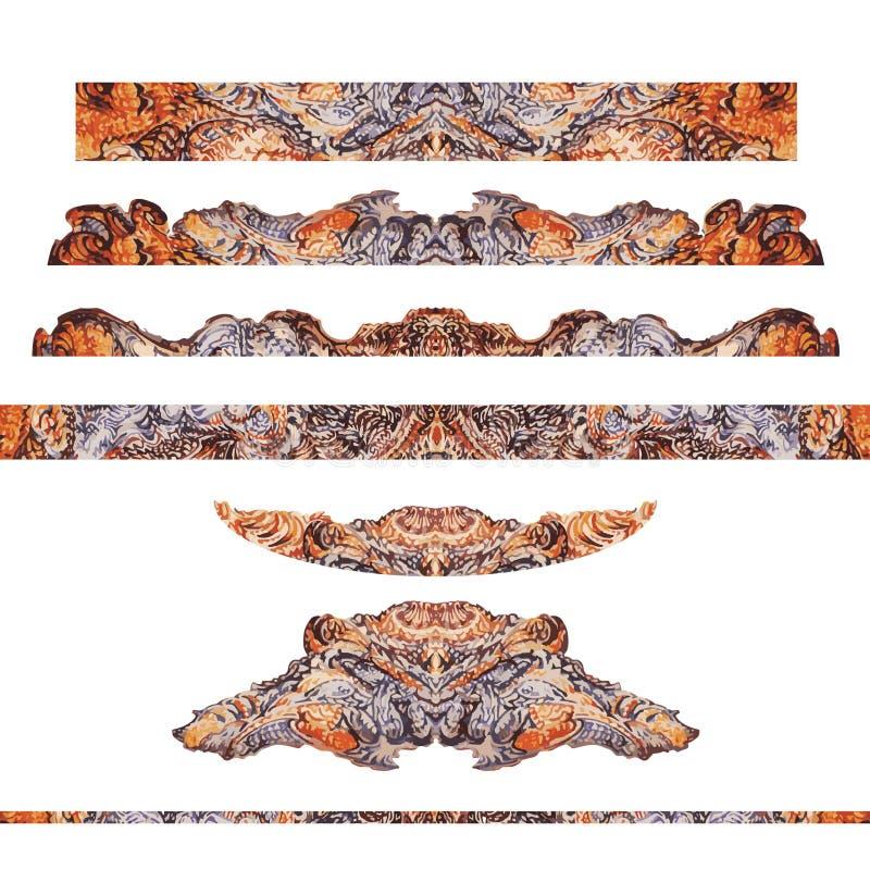 Detalles ornamentales del modelo del marco, cosechados en rayas horizontales libre illustration