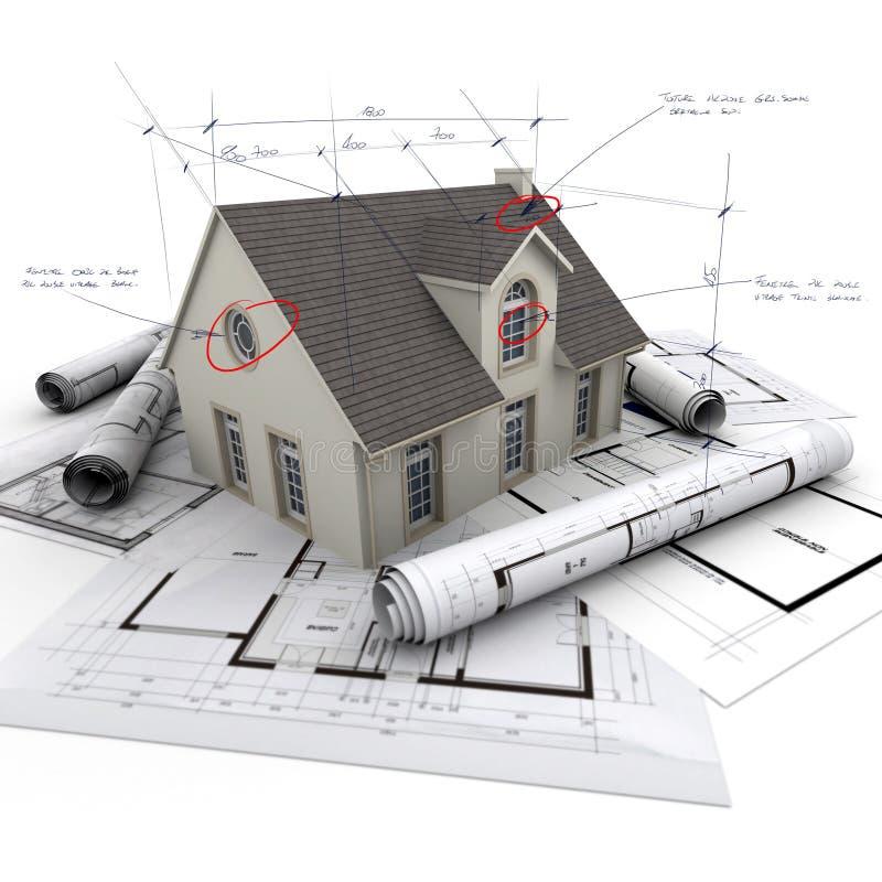 Detalles técnicos del proyecto de la casa stock de ilustración