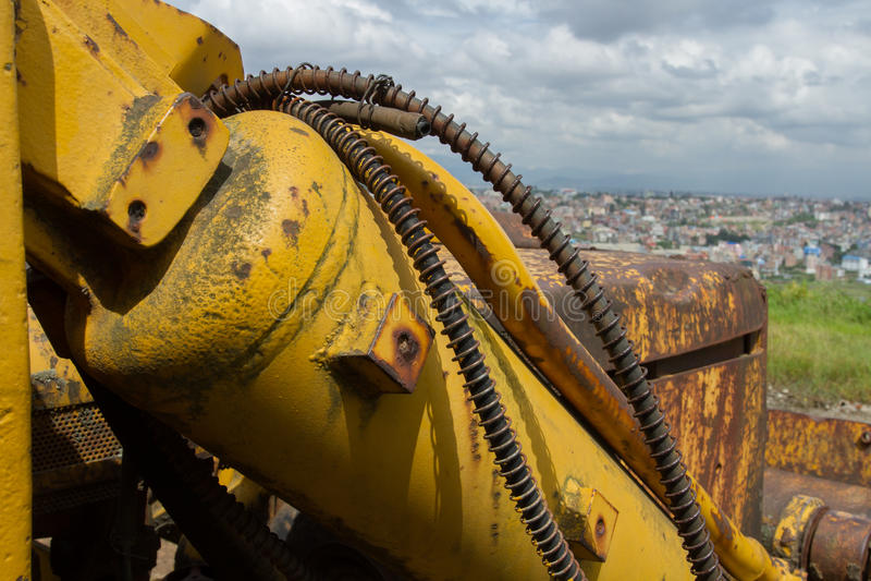 Detalles y mecanismos La urbanización está caminando alrededor del planeta imagen de archivo libre de regalías