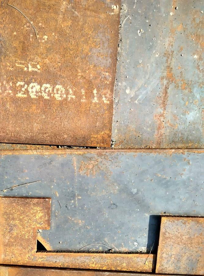 Detalles y texturas de la placa de acero imagen de archivo