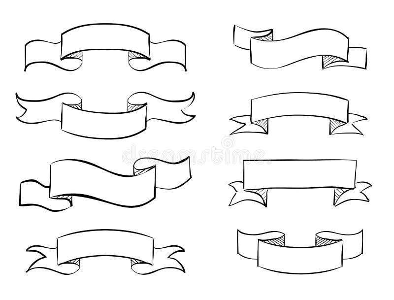 detdrog banret klottrar vektortappningsnirkeln royaltyfri illustrationer
