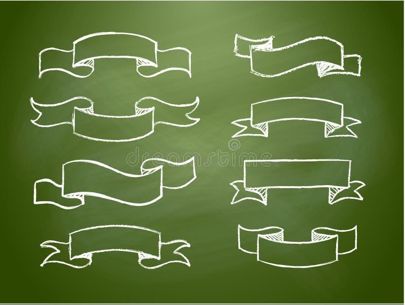 detdrog banret klottrar vektortappningsnirkeln stock illustrationer