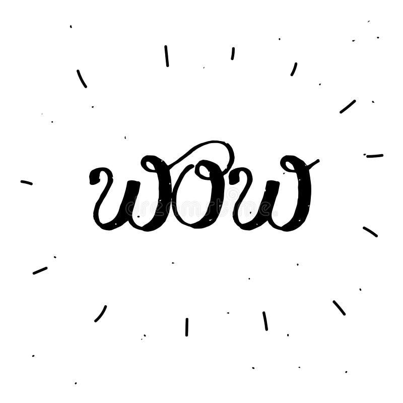 detdrog ordet ÖVERRASKAR i svart färg stock illustrationer