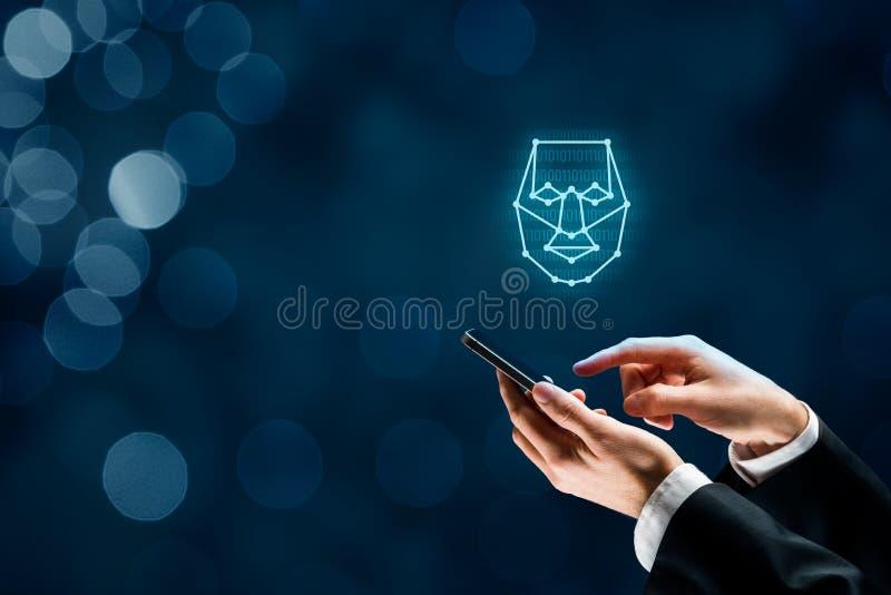 Detecção da cara imagens de stock royalty free