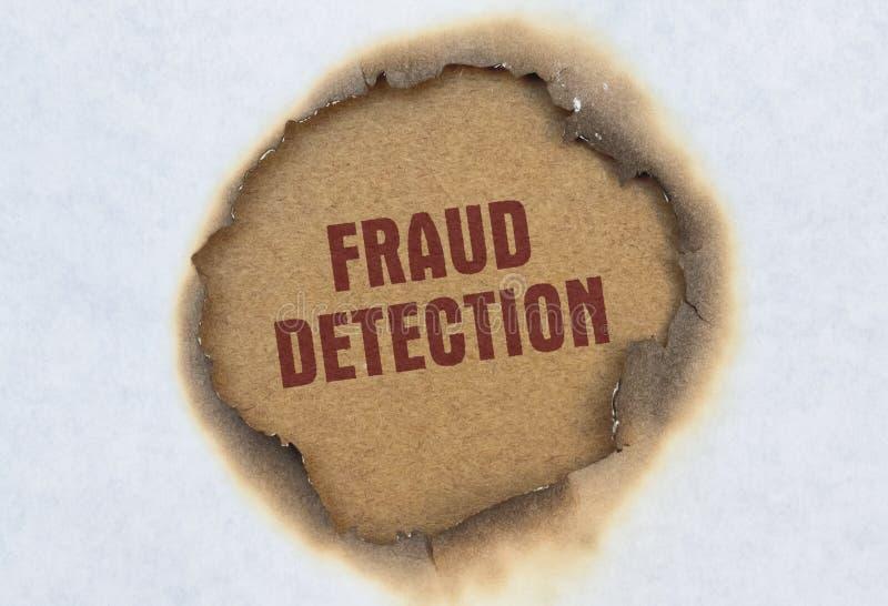 Detecção da fraude do texto fotografia de stock royalty free