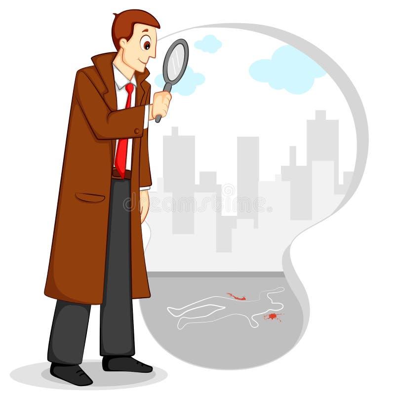 Detective stock de ilustración