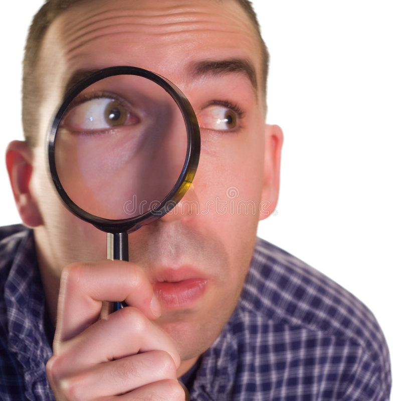 Download Detective stock photo. Image of magnifying, glass, isolated - 7135968