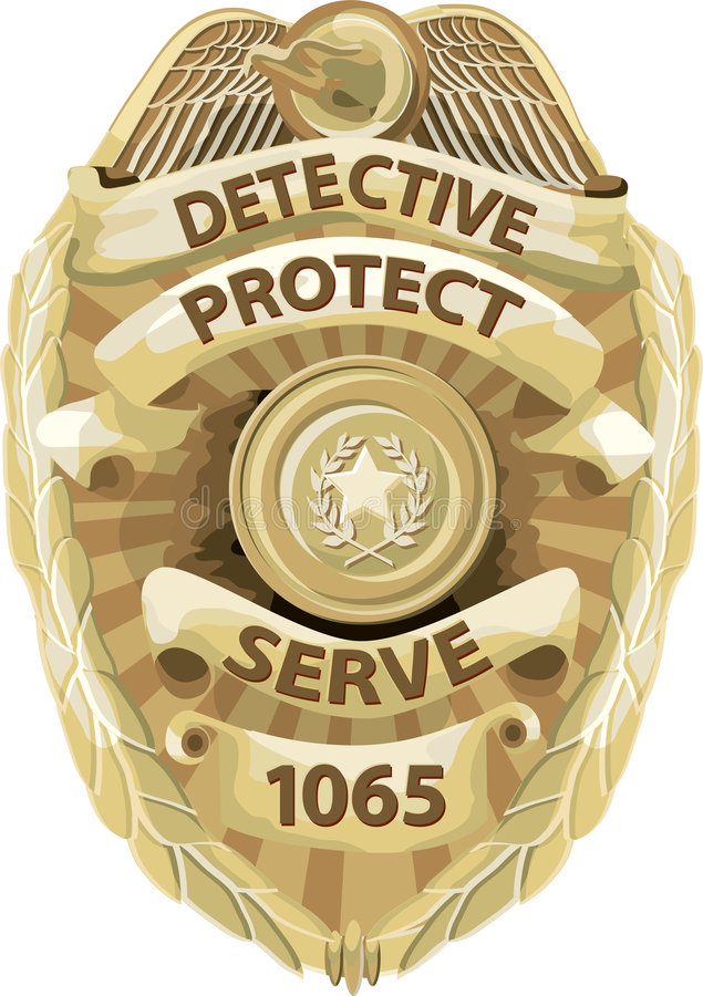 Detective Badge with clipping path vector illustration