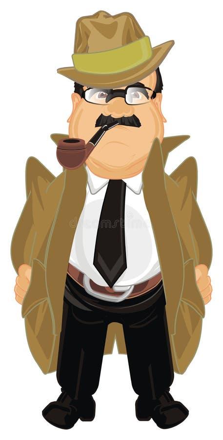 Detective con el tubo stock de ilustración
