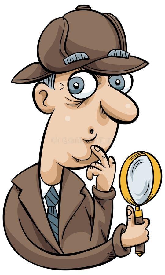 Detective de la historieta ilustración del vector