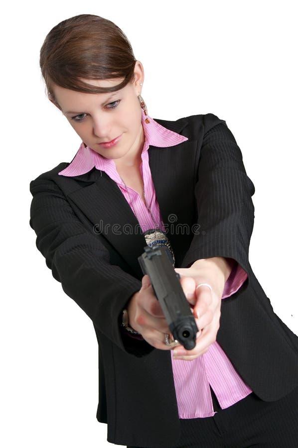 Detective de sexo femenino foto de archivo