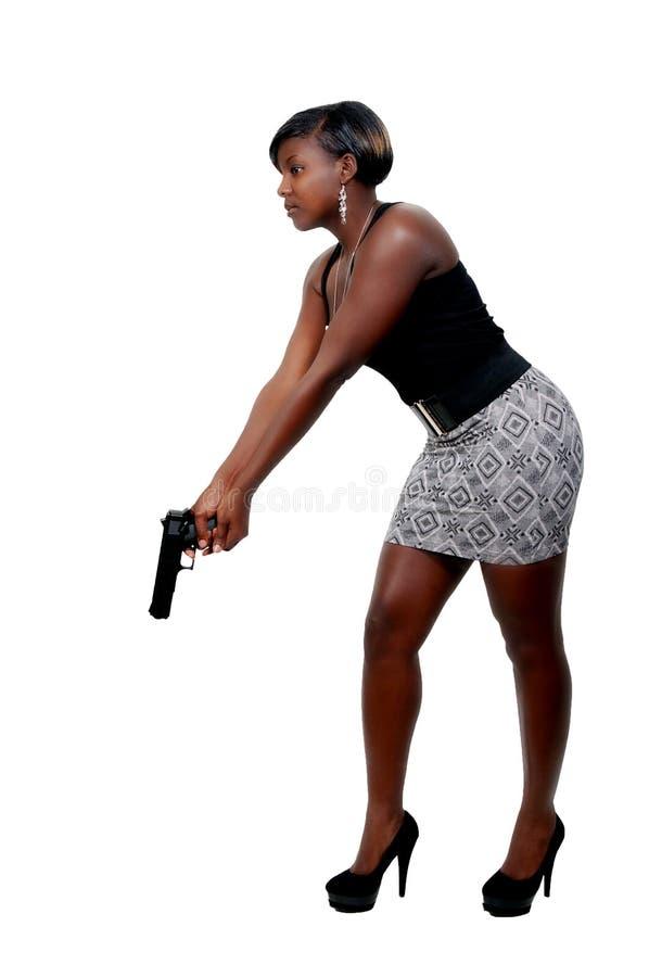 Detective de sexo femenino imagen de archivo