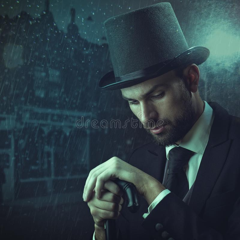 Detective del inglés foto de archivo