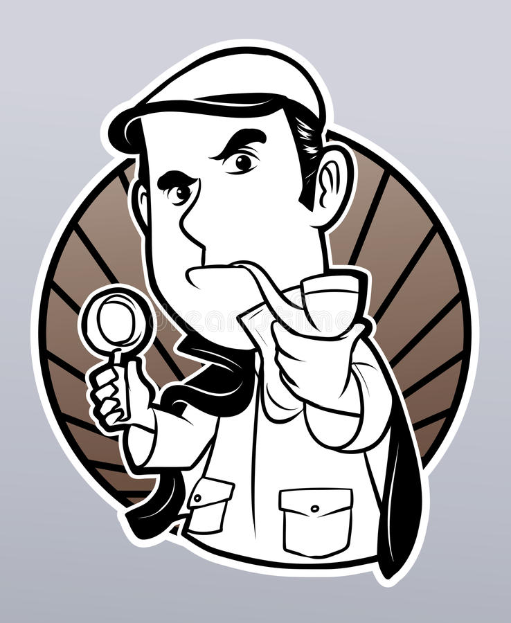 Detective royalty free illustration