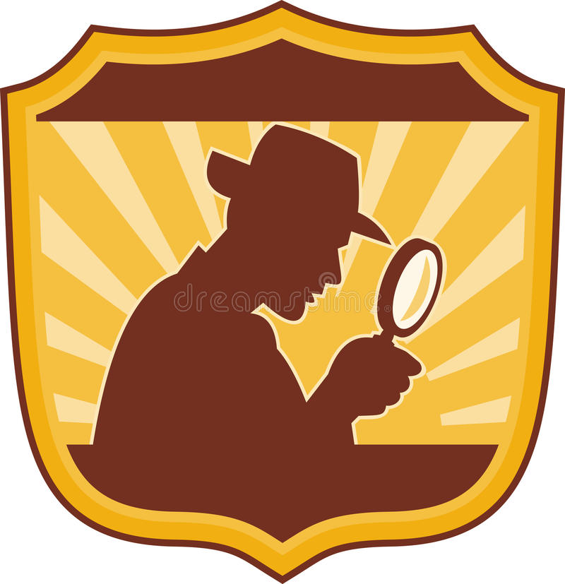 Download Detective magnifying glass stock vector. Image of artwork - 12832819