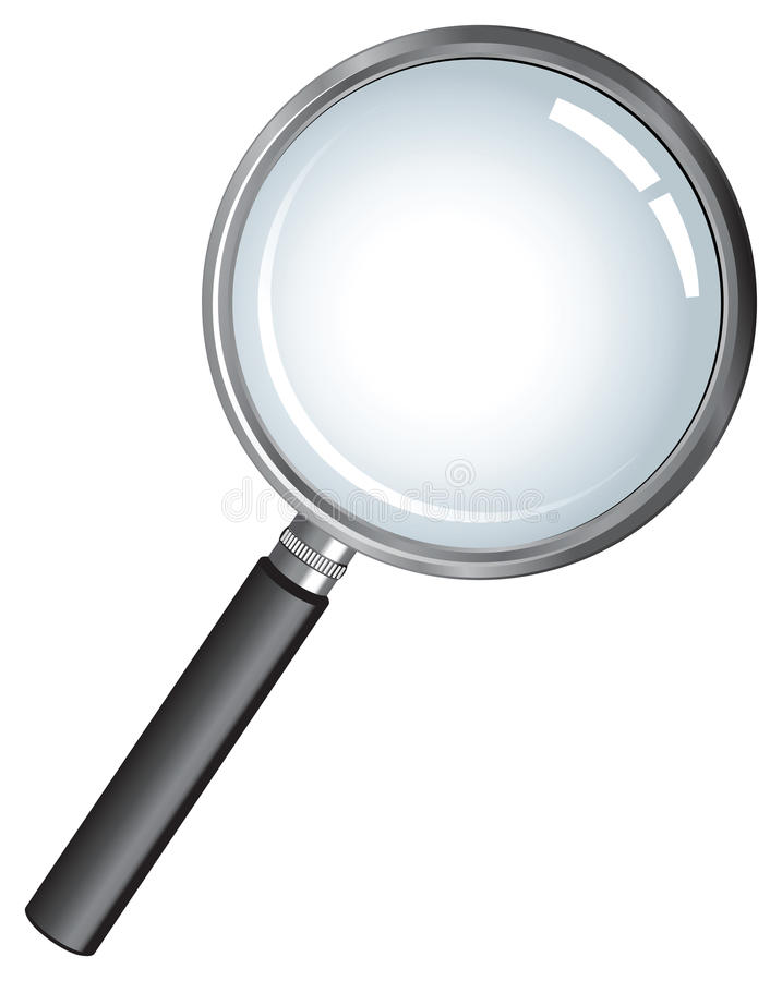 Detective magnifying glass royalty free illustration