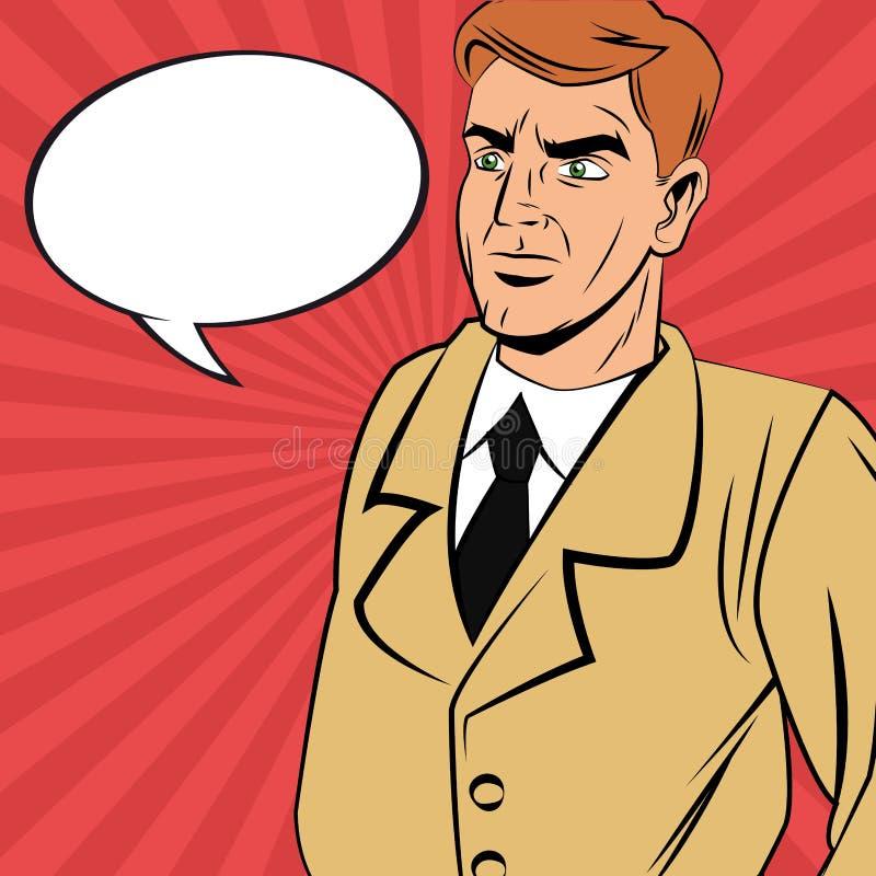 detective man cartoon design stock vector illustration of american suit 110237422 dreamstime com