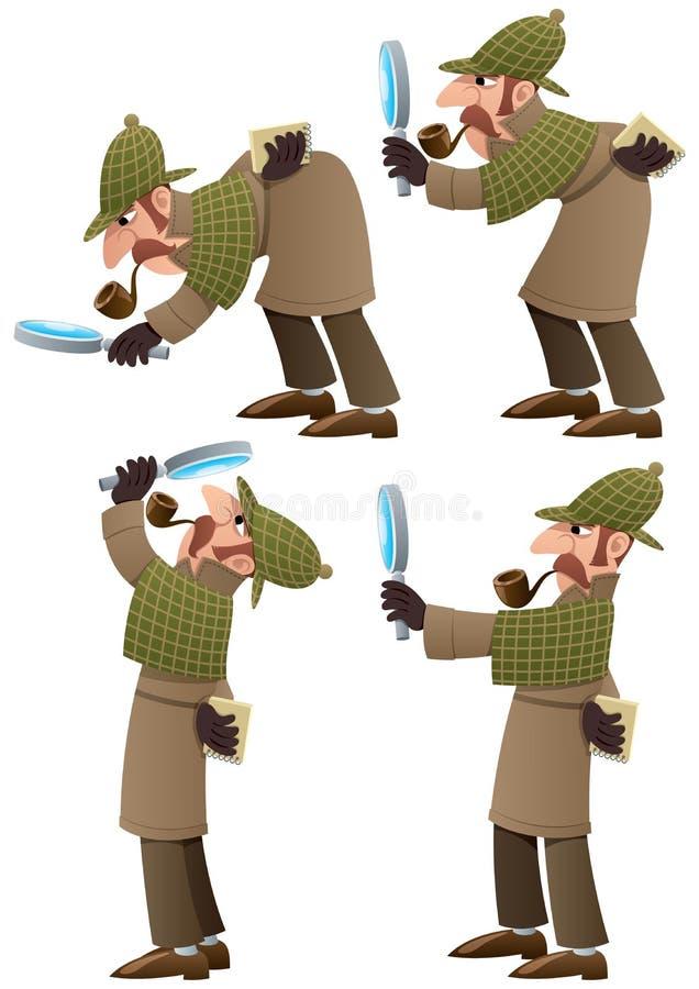 Detective Set vector illustration