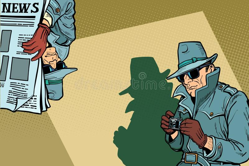 Detective Spy background concept stock illustration