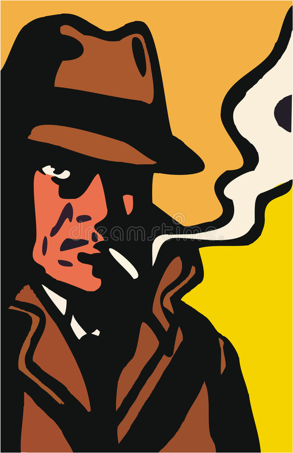 Download Detective Stars stock vector. Image of cigar, inquiring - 1266902