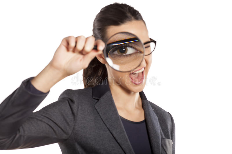 Detective woman stock image