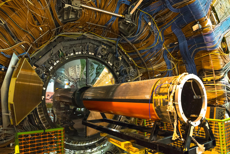 Detector de Lhcb em CERN, Genebra imagens de stock