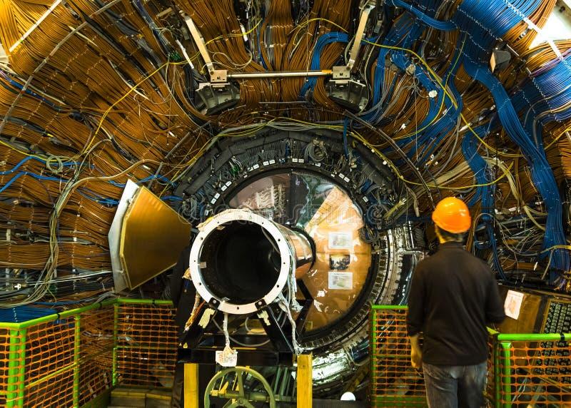 Detector de Lhcb em CERN, Genebra fotografia de stock royalty free