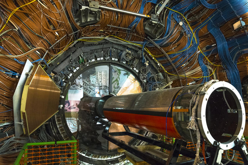 Detector de Lhcb en CERN, Ginebra imagenes de archivo