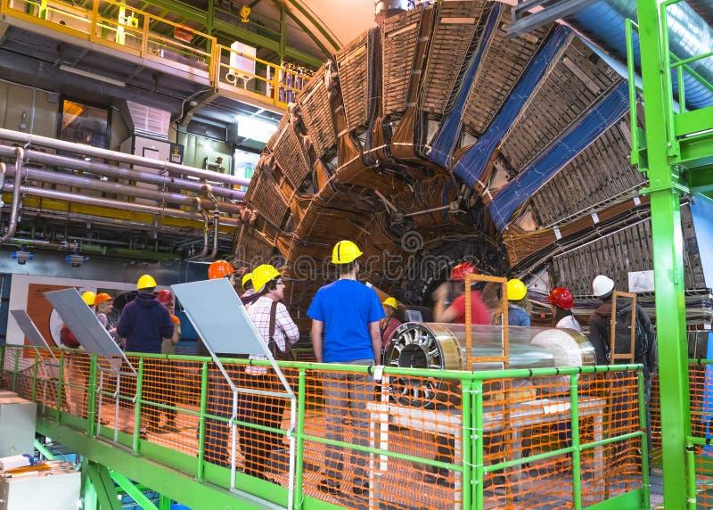 Detector de Lhcb en CERN, Ginebra fotos de archivo libres de regalías