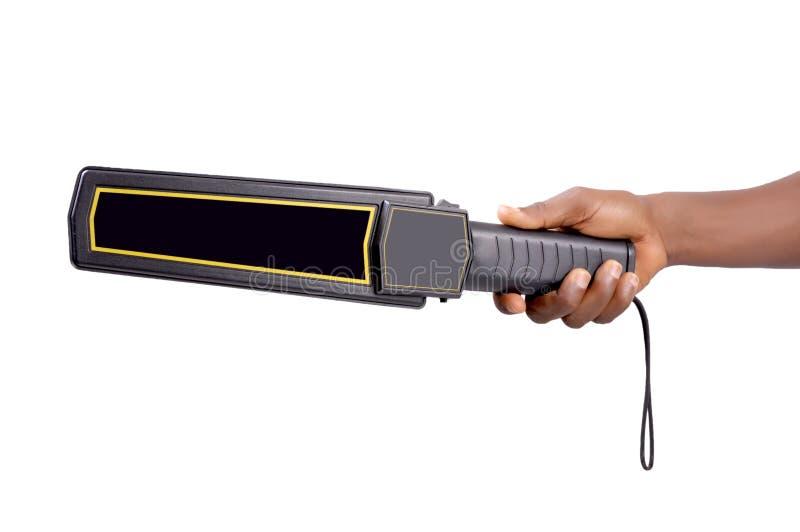 Detector de metais do varredor do corpo fotografia de stock royalty free