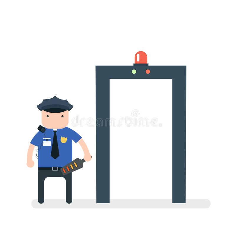 detector de metales del aeropuerto libre illustration