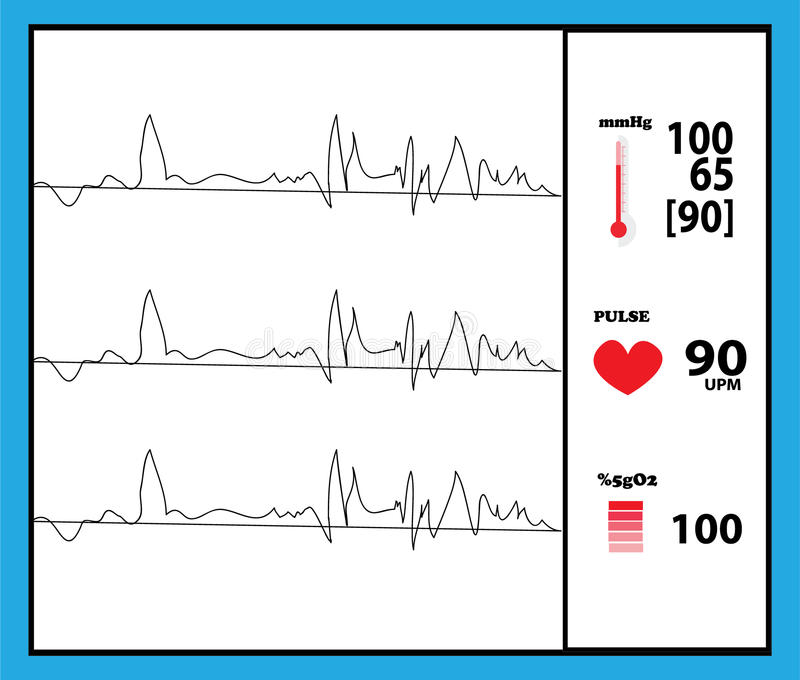 Detector del monitor de la máquina de la salud ilustración del vector