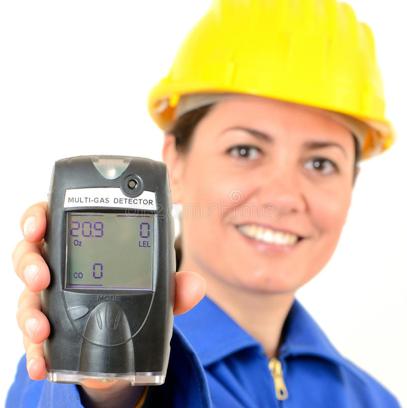 detector del Multi-gas, un dispositivo para medir la concentración fotografía de archivo libre de regalías