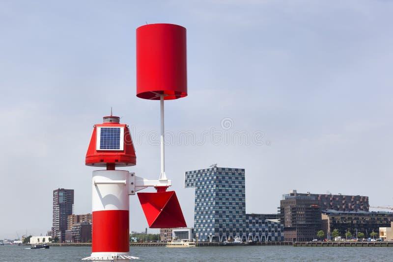 Detector do gás e da poluição em Rotterdam fotos de stock