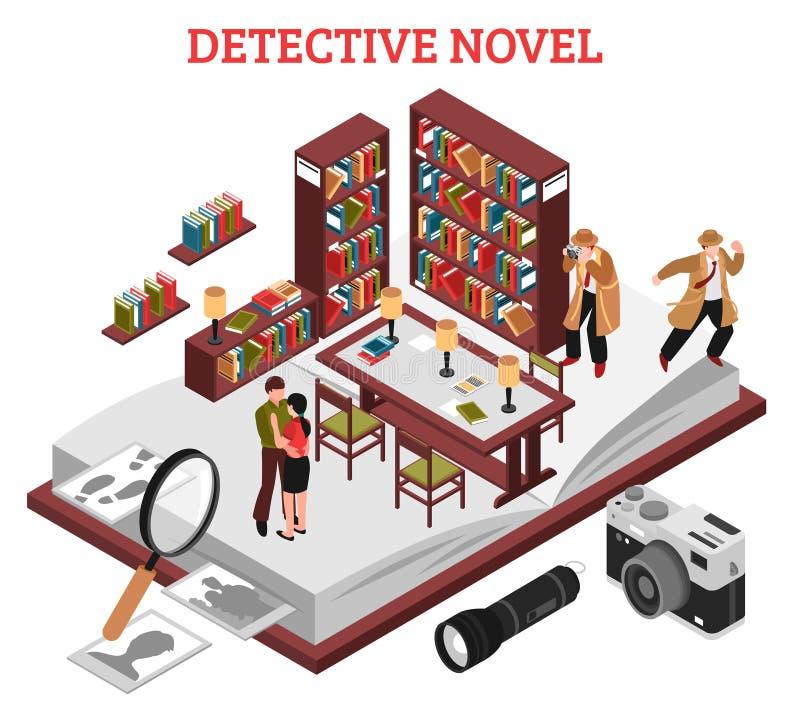 Detektiv Novel Design Concept lizenzfreie abbildung